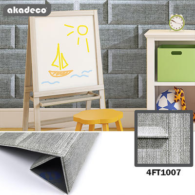 akadeco colorful self adhesive anti-collision for children's  room living room 3D brick XPE foam sticker
