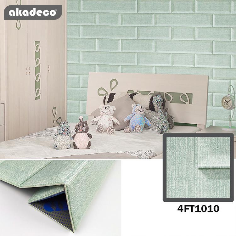 New Trend Akadeco XPE Brick Pattern Self Adhesive Wall Sticker Peel And Stick