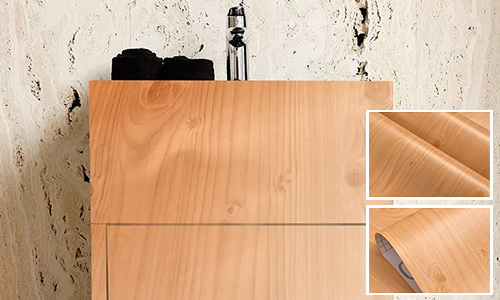 environmental wood grain wallpaper adhesive widely-use electrical room-1