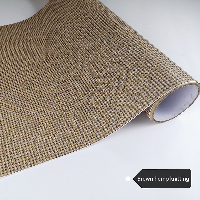 PVC Knitting Wooden Self Adhesive Film Wood Grain Wallpaper