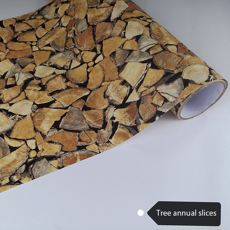 PVC Dense Design Wooden Self Adhesive Film For Windows