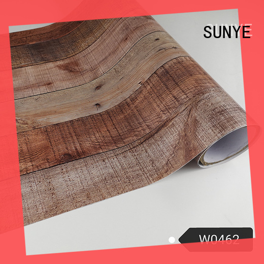SUNYE self wood grain contact paper marketing hall way