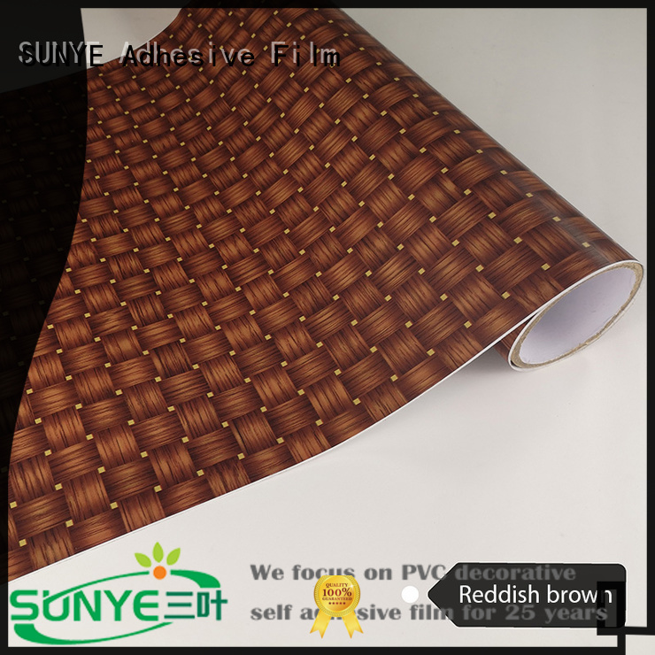 SUNYE film wood panel effect wallpaper amelioration switch room