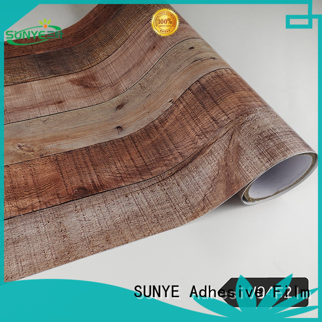 SUNYE environmental  wood grain contact paper management loading zone