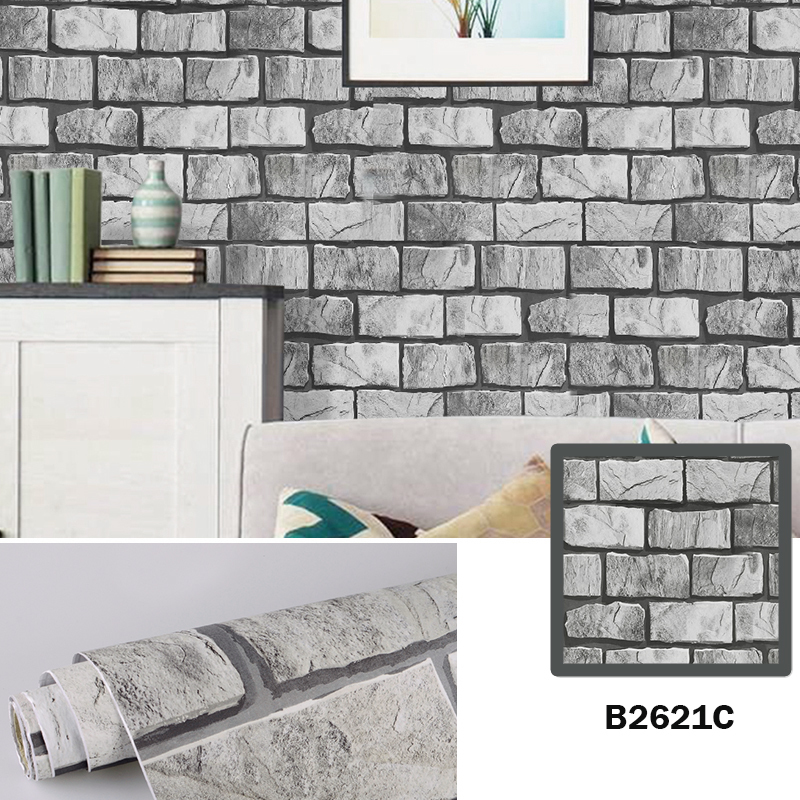 akadeco brick peel and stick wallpaper brick wallpaper adhesive wallpaper faux textured brick look removable wall paper contact paper or shelf paper