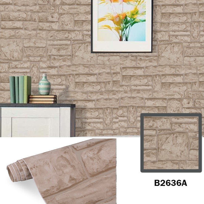 quality brick design wallpaper with good price bulk production