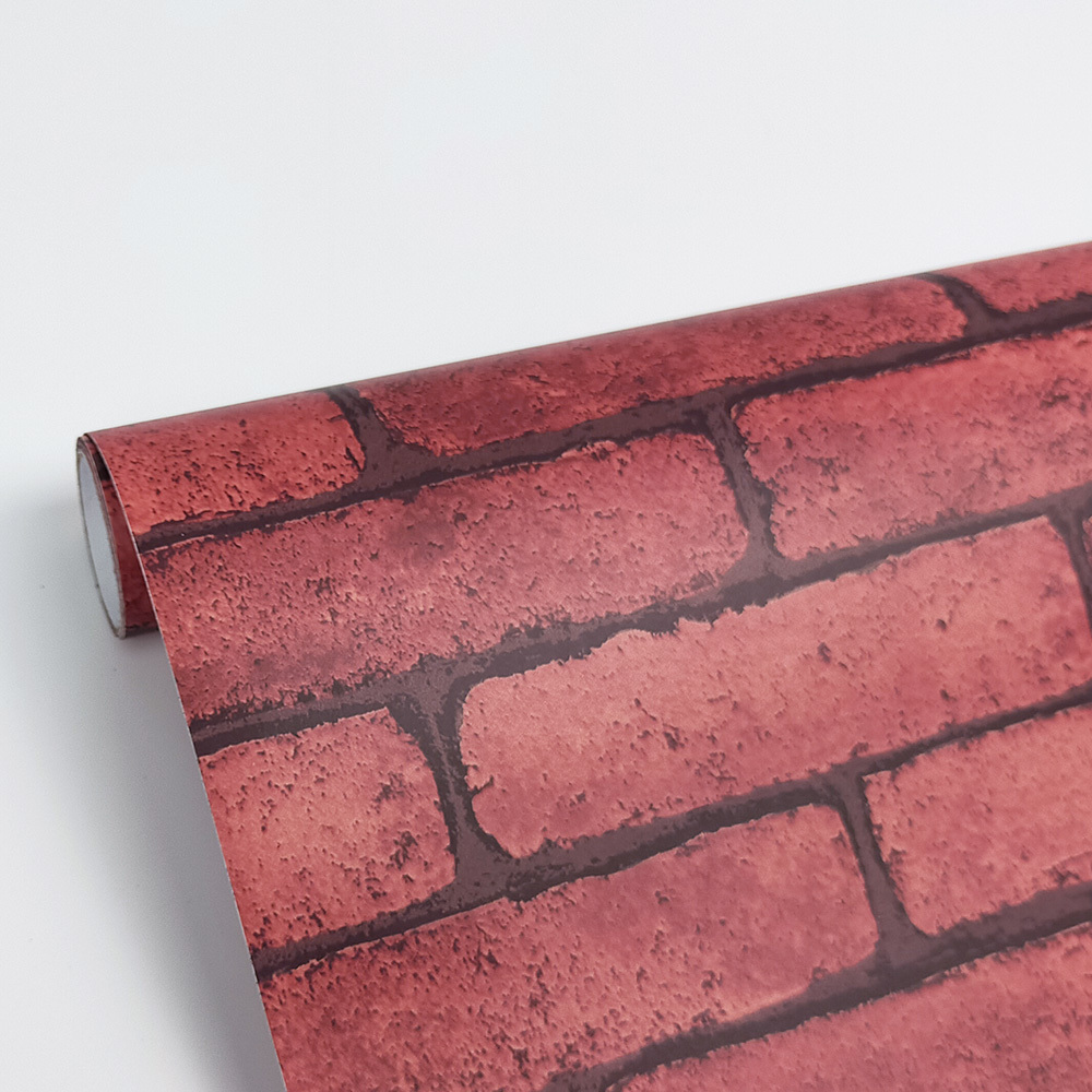 Akadeco Modern Self adhesive film , PVC Brick self adhesive Film Wall Backsplash