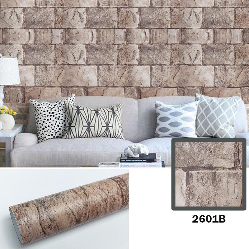 akadeco brick wallpaper stick and peel decorative self-adhesive faux brick antique printed waterproof stick paper