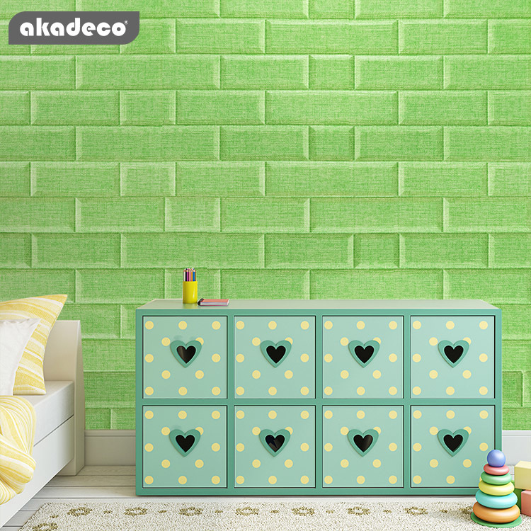akadeco self adhesive film suitable for children's room new arrival limited time discount flax green various color XPE foam self adhesive film