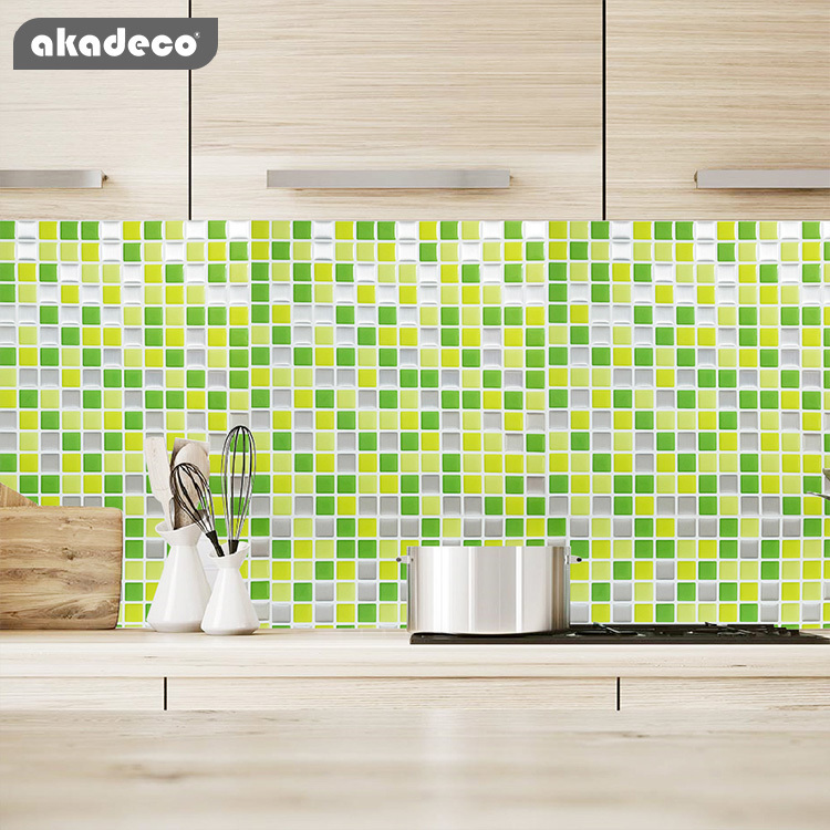 3D wall peel and stick tiles