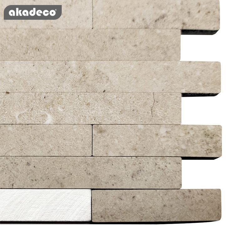metal mosaic and easy tile3D wall stick hot salling design kitchen use waterproof