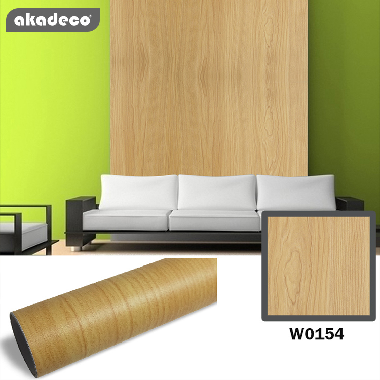 Self Adhesive Films  for wall decor furniture decor water-proof moisture-proof  PVC Wood Grain high quality