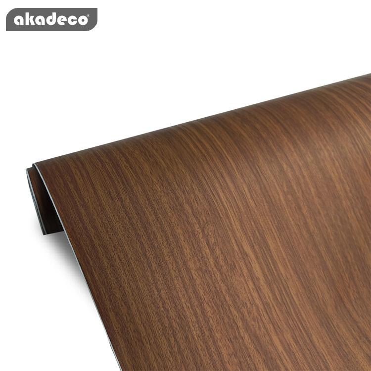 Popular wood grain high gloss PVC decorative film for furniture water-proof moisture-proof