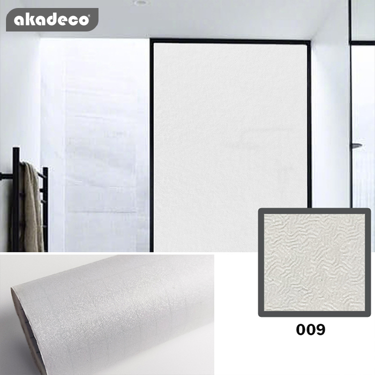 3D good bonding self adhesive embossed pvc material decorative glass window film contact paper
