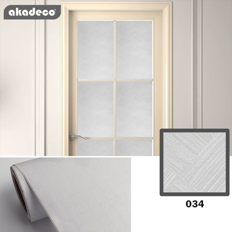 Laminated embossed pvc self adhesive film privacy window glass frosted designs bathroom decor