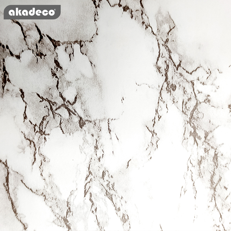 akdeco brown/white marble contact paper peel and stick countertop granite wallpaper for kitchen cabinet vinyl   waterproof self adhesive removable wall paper decorative for home decor