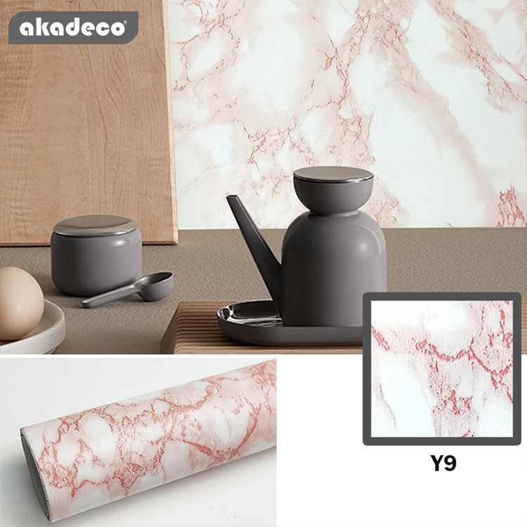 marble wall paper akadeco wallpaper kitchen countertop peel and stick wallpaper pink/white marble paper self adhesive vinyl roll for bathroom counter dining table desk furniture renovations