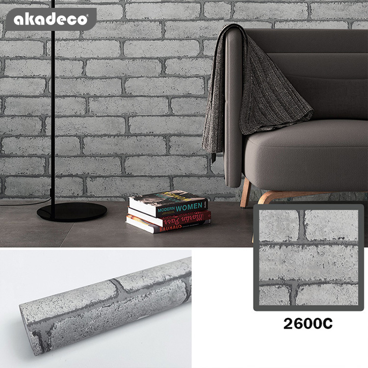 brick wallpaper stick and peel decorative self-adhesive faux brick antique printed waterproof stick paper red>=5000 Pieces
