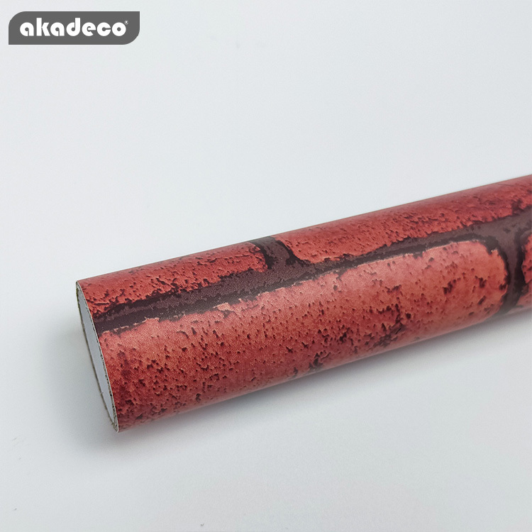 brick peel and stick wallpaper brick contact paper or wall paper  self adhesive wallpaper  easily removable wallpaper