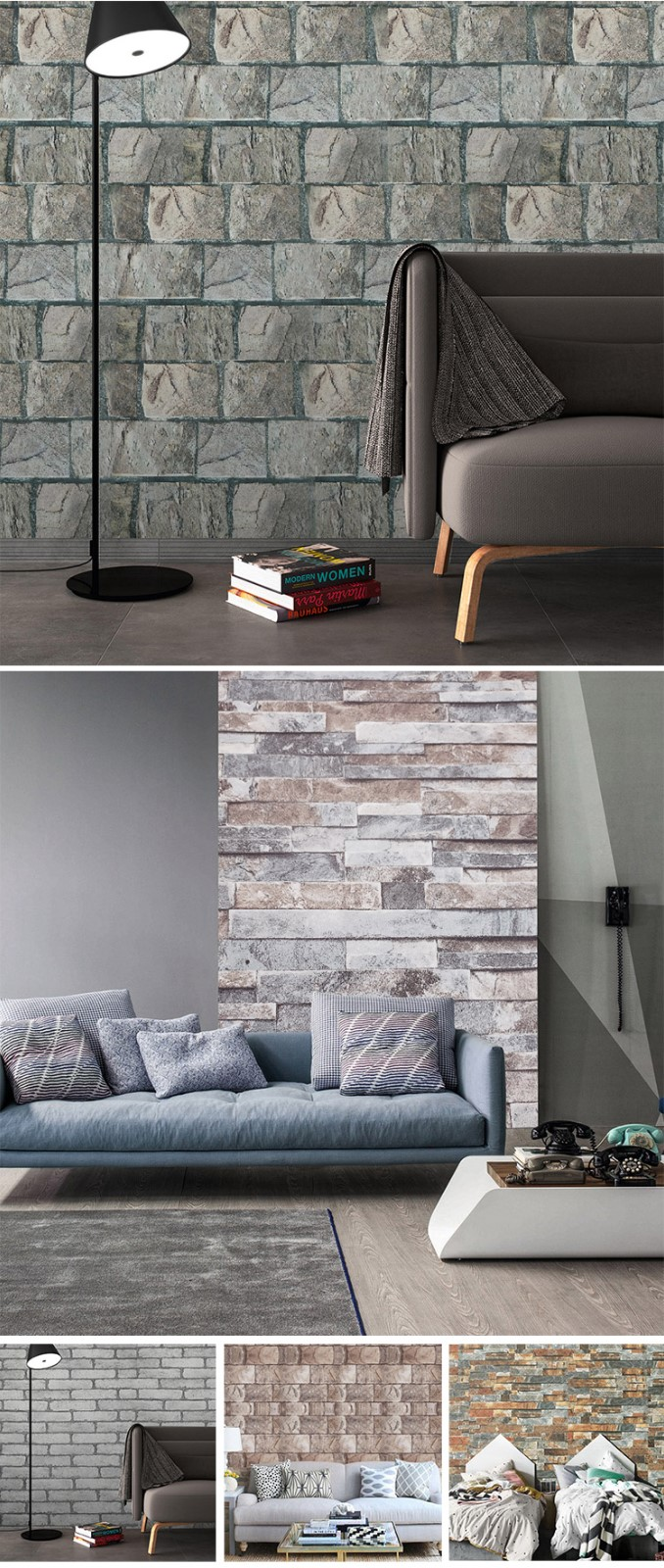 SUNYE brick wall vinyl with good price bulk buy-5