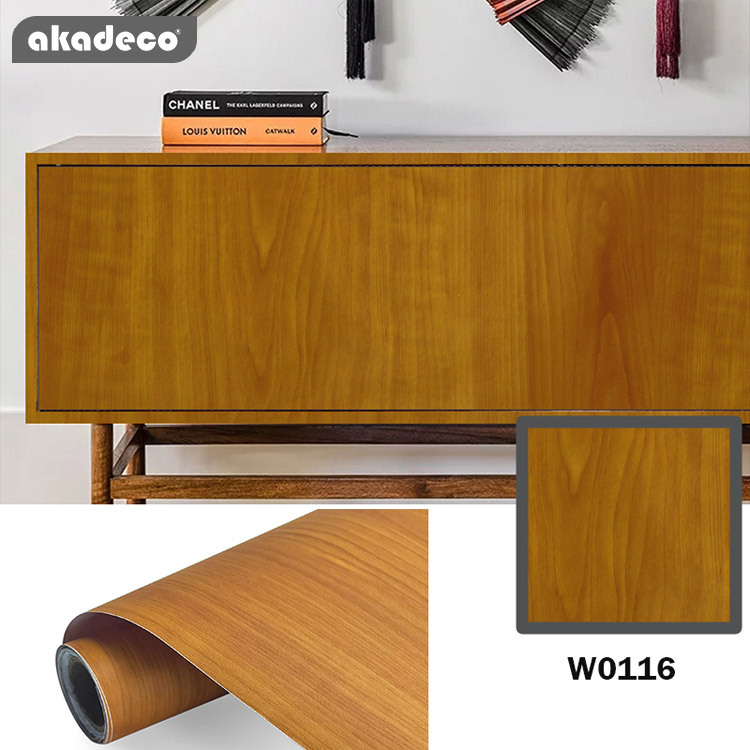 akadeco PVC Self-adhesive Wooden Color Film Wood Contact Paper suitable for wall furniture