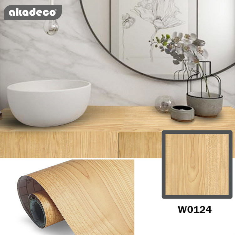 New arrival self adhesive contact paper PVC wooden patterns decorative film for wall for furniture