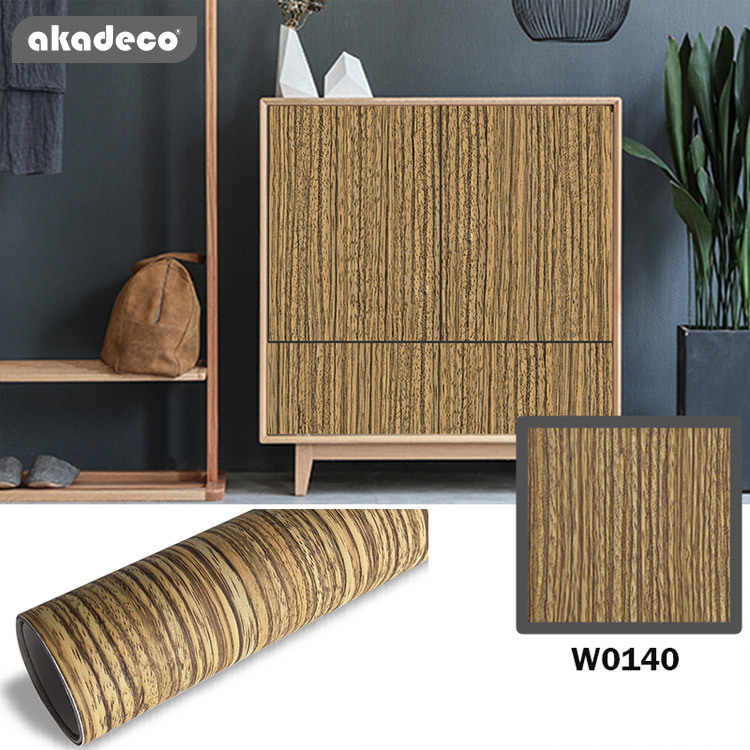 Most popular clean texture waterproof moistrue-proof wooden self adhesive contact paper for furniture decoration