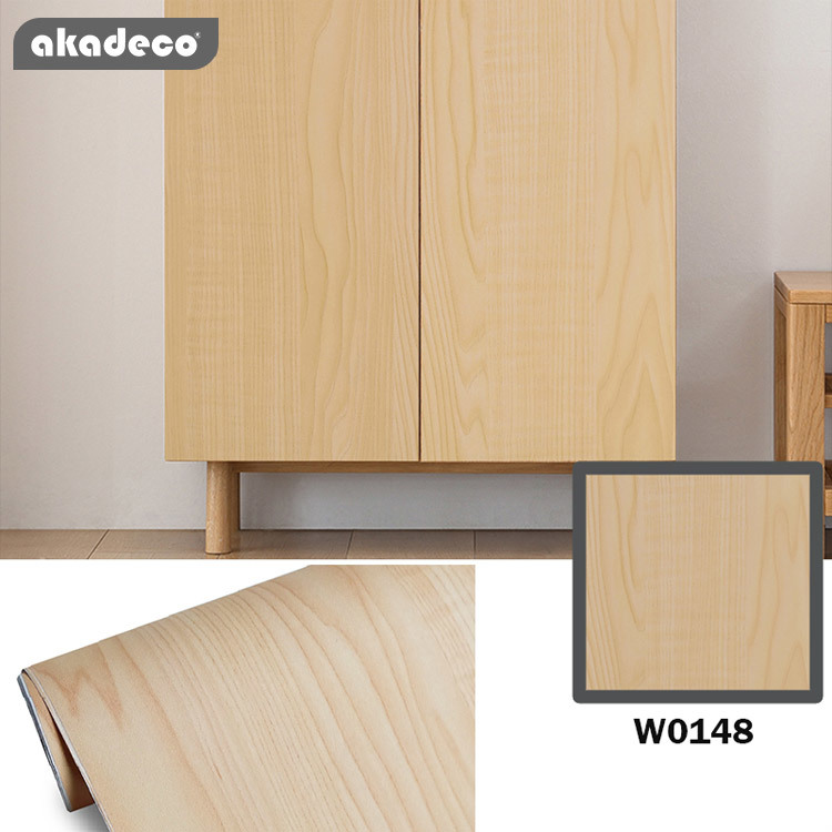 New trend akadeco pvc self adhesive wooden fim pvc contact paper with diverse pattern for wall& furniture