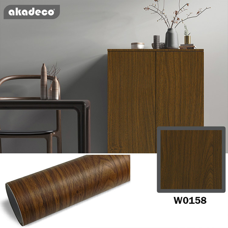 Akadeco Popular PVC Self Adhesive Wooden Film with Removable Glue, Catering for Furniture, Wall and Floor