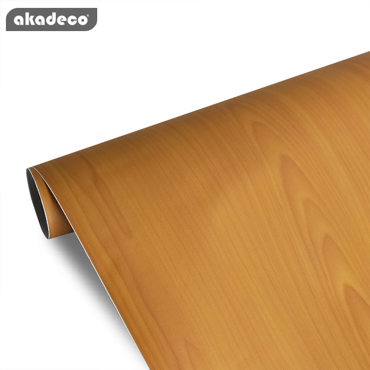 Best price wood grain wallpaper pvc wooden self adhesive film sitting room bedroom study background wall paper