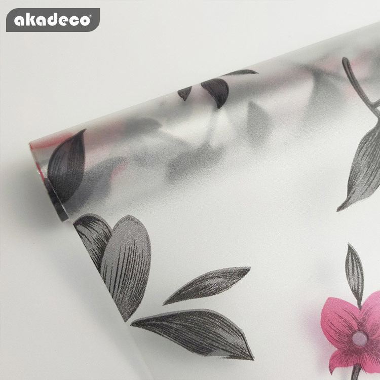 AKADECO window film non-adhesive privacy films  frosted window glass film for nome office removable  window tint film