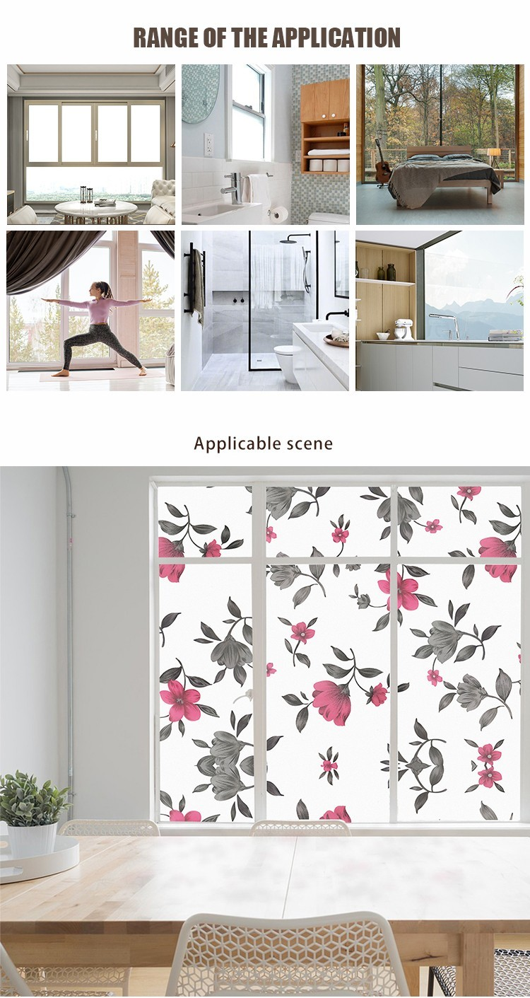 durable self adhesive window protection film series for dining room