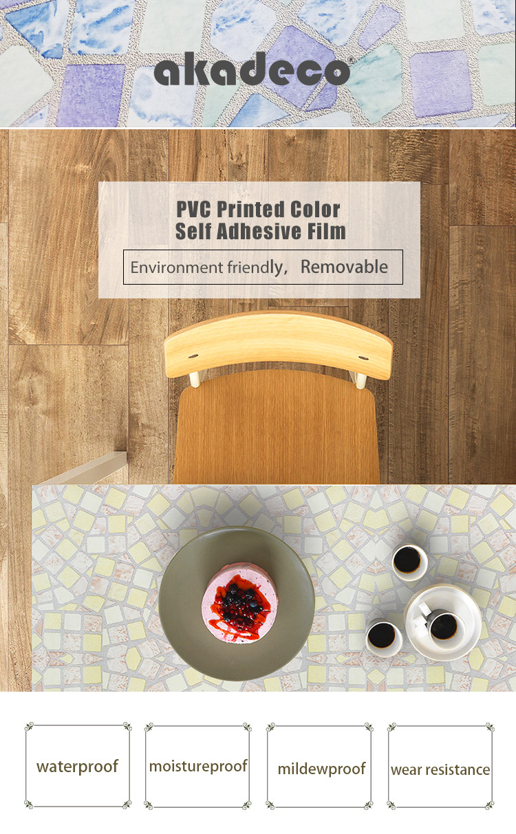 SUNYE PVC PRINTED SERIES ADHESIVE FILM supplier for canteen-1
