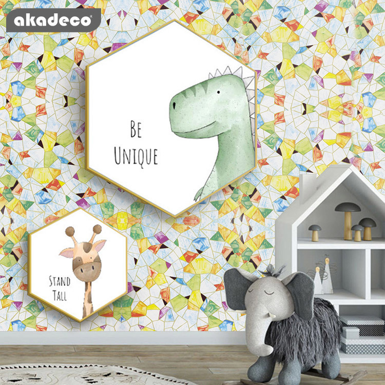 PVC printed color modern design moisture-proof printed flower self adhesive contact wallpaper for home decoration