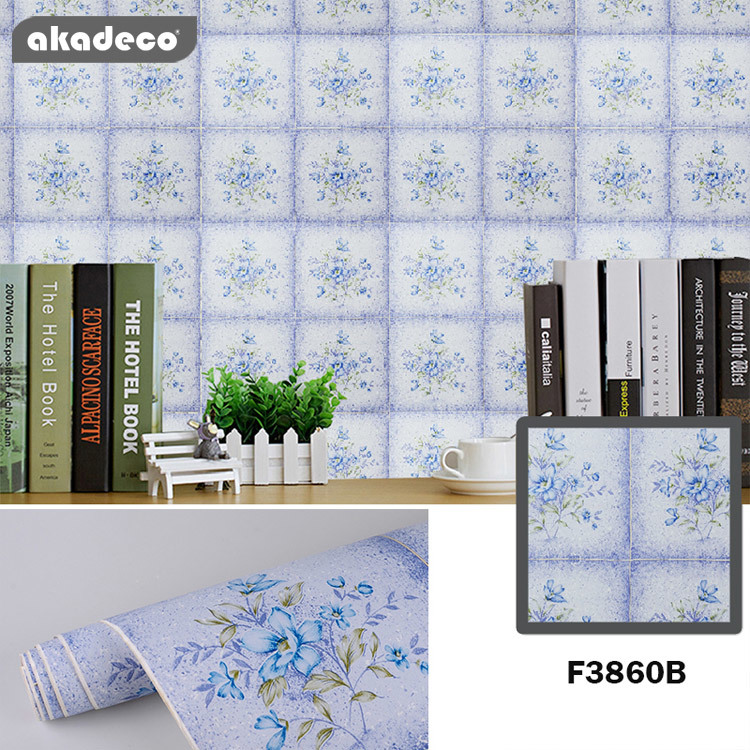 printed flower waterproof new design customized  self adhesive contact paper for wall decoration