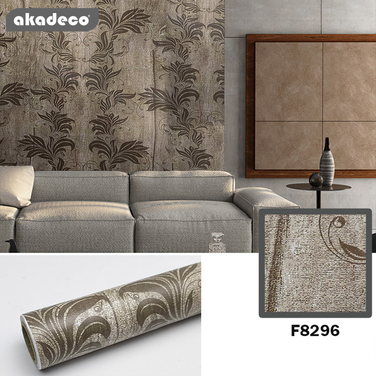 printed flower designs self adhesive contact paper high quality EU REACH standard  interior home decoration pvc wallpaper