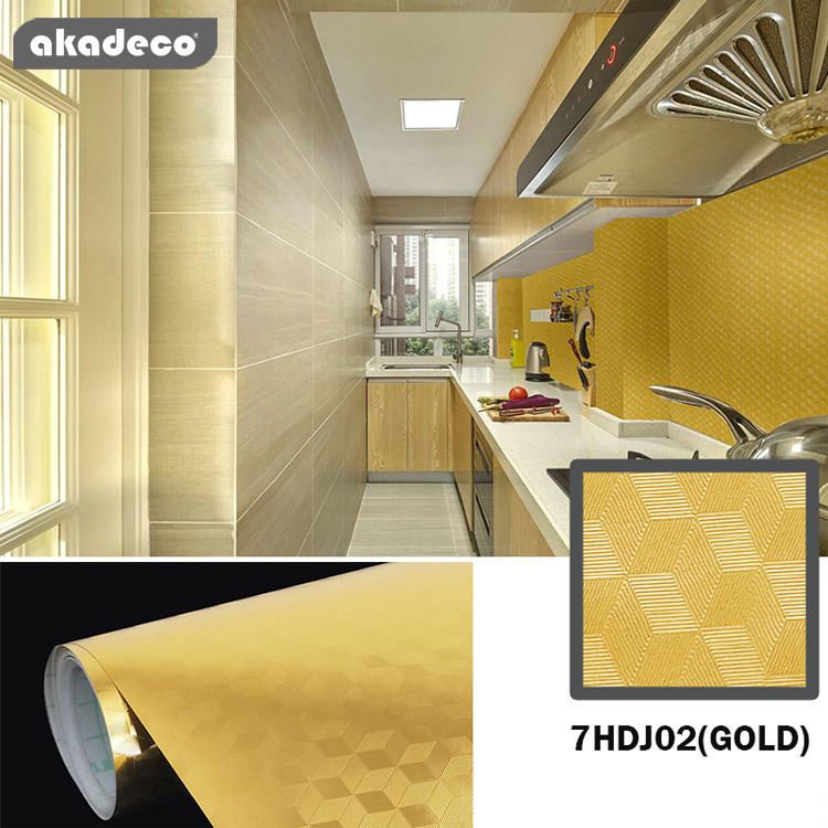 PVC+PE metalliazed aluminum film Hot selling life time transparent for kitchen cabinet