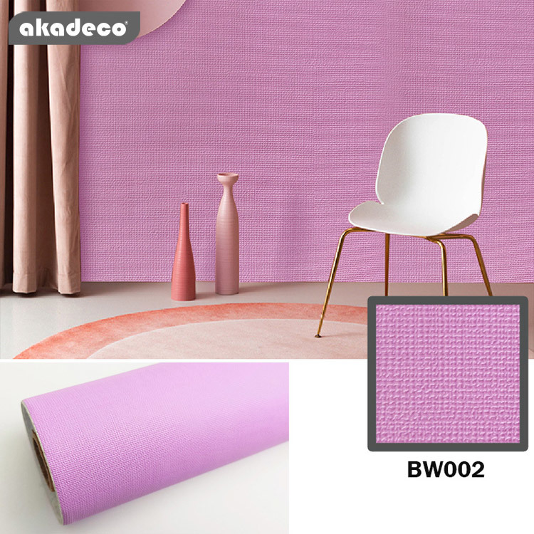 Plain  Color Nordic waterproof Plain color nordic self adhesive film Plain Color Nordic waterproof wallpaper bedroom TV background wall solid color silk wallpaper decorative film