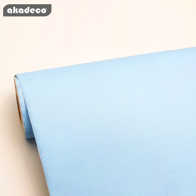 blue water-proof plain solid contact paper new arrival European style rolls self adhesive wall paper for bed room living room