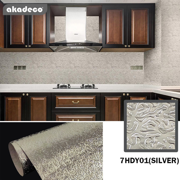 PVC+PE metalliazed aluminum kitchen cabinet film Hot selling life time transparent