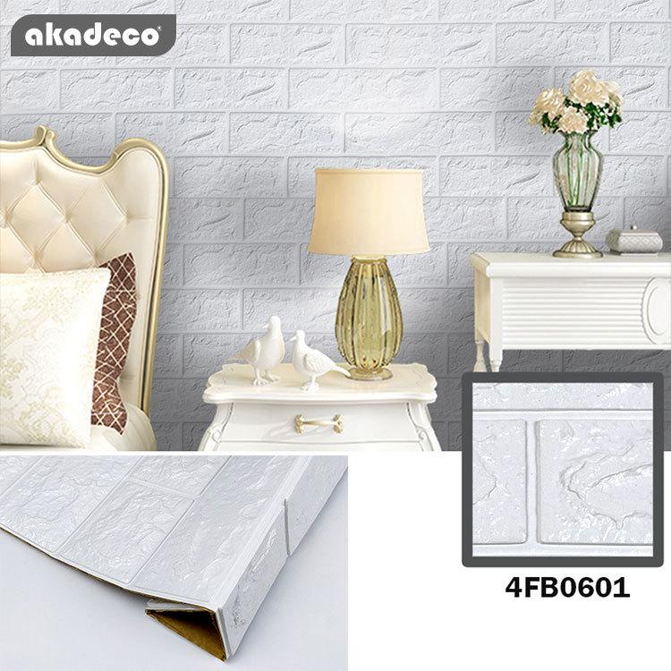 3D XPE foam film akadeco PVC self adhesive film 3D wallpaper stick on wallpaper for children room wallpaper 2020
