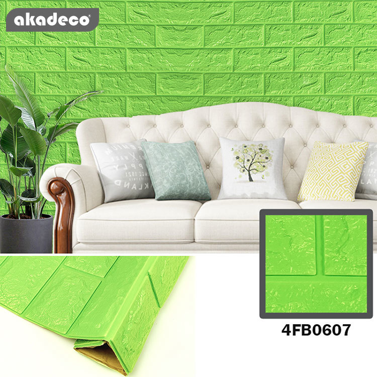 akadeco XPE foam film 3D effect wallpaper peel and  stick wallpaper hot selling good for all market for children'm room