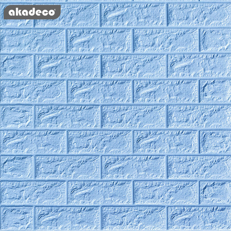 blue brick 3D wall sticker