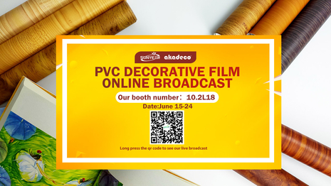 Online live broadcast of pvc decorative film is in progress