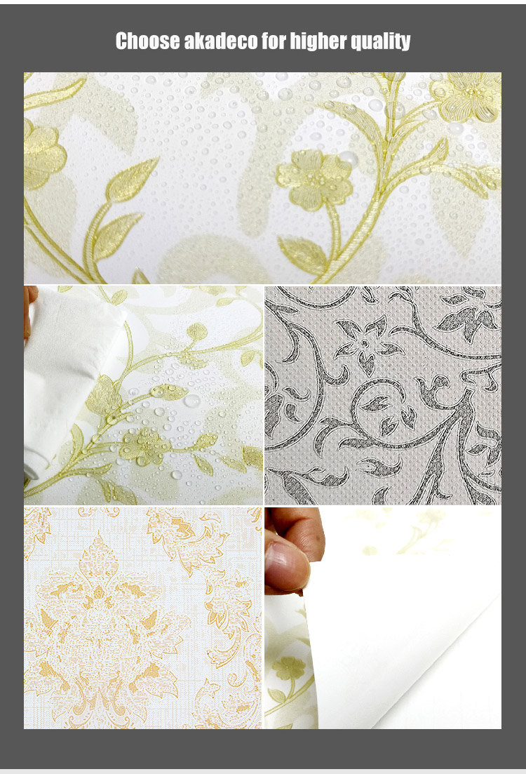 SUNYE pvc  wallpaper factory direct supply for home decoration-2