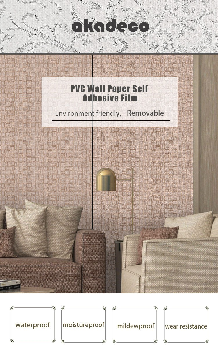 SUNYE pvc  wallpaper factory direct supply for home decoration-1