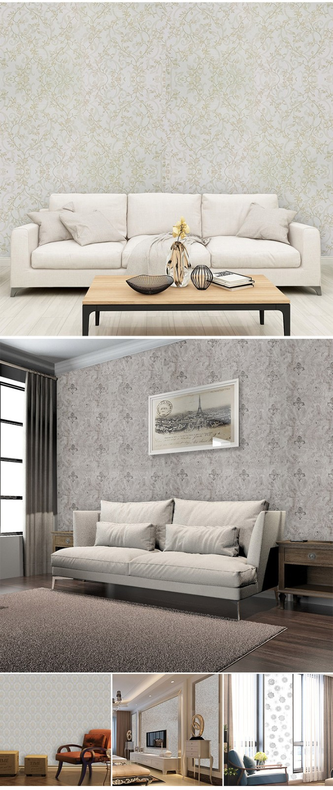 SUNYE pvc  wallpaper factory direct supply for home decoration-6