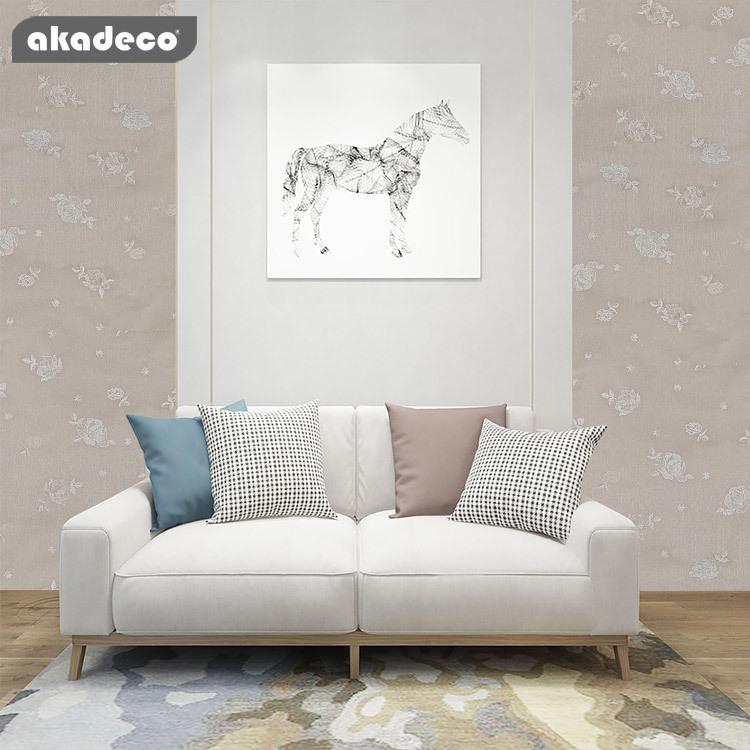 modern European non-woven wallpaper wallpaper roll peel and stick wood fabric wallpaper for bedroom living room TV background