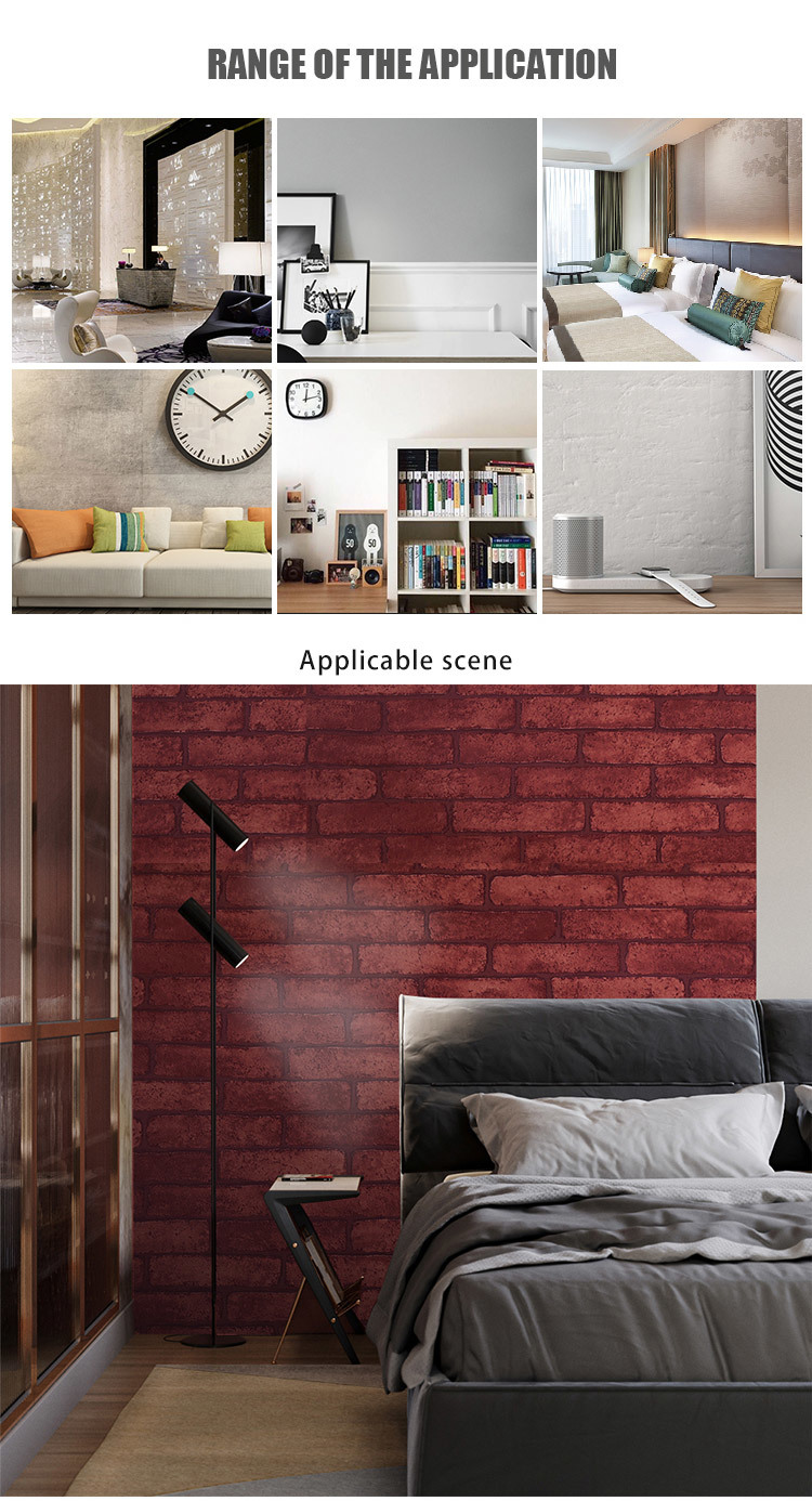 SUNYE pvc wallpaper online directly sale for guard house