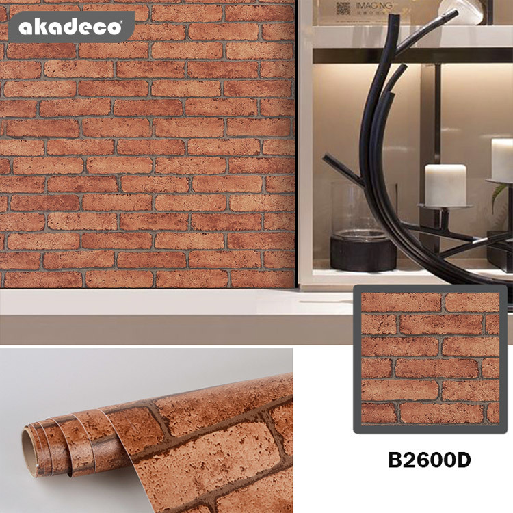akadeco stick and peel contact paper removable wallpaper brick wallpaper brick peel and stick wallpaper